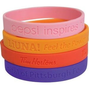 "Embossed Silicone Wristbands (7 3/16""x1/3"")"