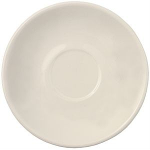 "Piccolo saucer 5-3/16"" natural vitrified"