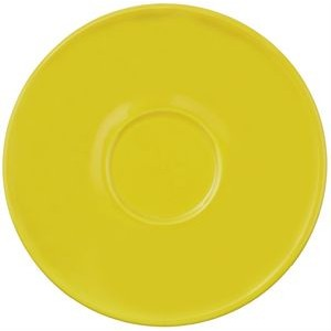"Piccolo saucer 5-3/16"" yellow vitrified"
