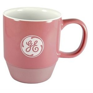 ** Saigon pink/metallic bottom/white interior 11oz ceramic mug