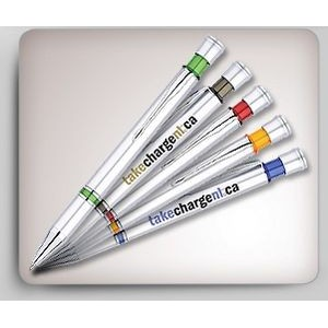 Two Ring Silver Plastic Pen