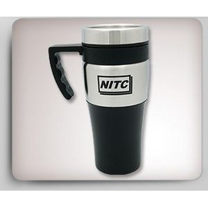 14 Oz. Silver Accent Thermal Mug