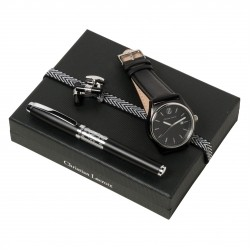 Christian Lacroix More Black Set w/Rollerball Pen & Watch